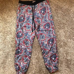 juicy couture silky material jogger style pants